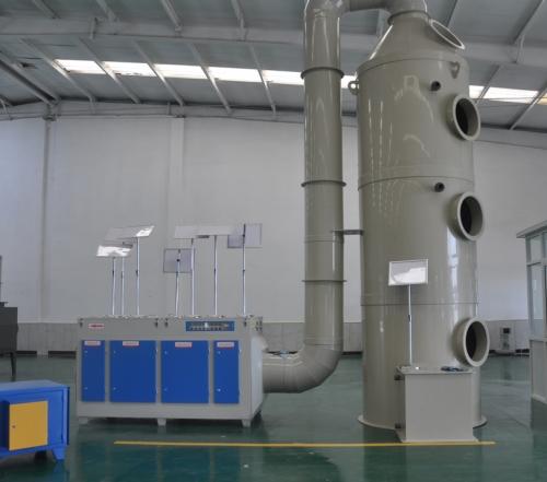 PP洗涤塔生产设备展示