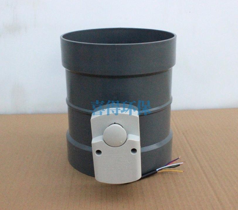 常熟PP深灰色阻燃电动风阀规格